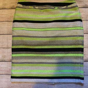 Nordstrom Halogen Neon Green Pencil Skirt Size 4